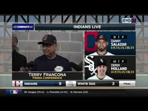 Terry Francona on the foul pop that would've hit him if not for Yan Gomes | Indians Live Postgame