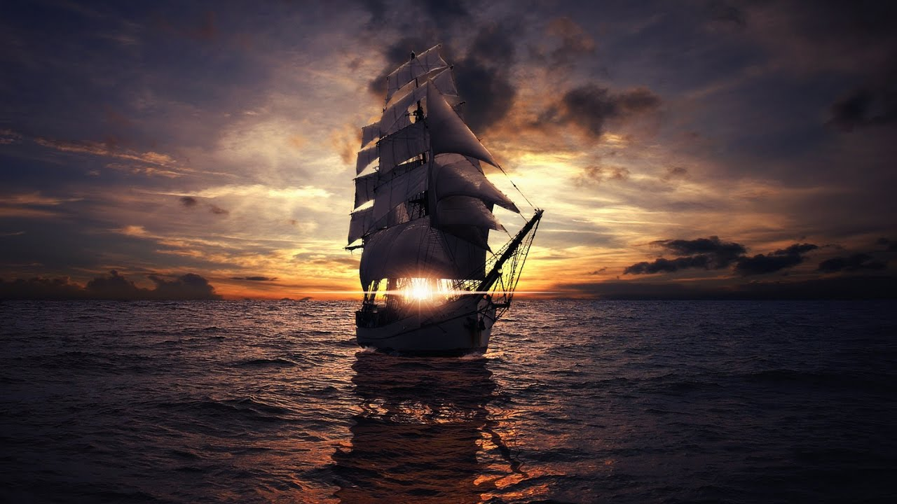 сосётся корабль в ночном море картинки объявления