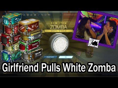 GIRLFRIEND PULLS WHITE ZOMBAS!! 12 Types of Tradeups (Rocket League) thumbnail