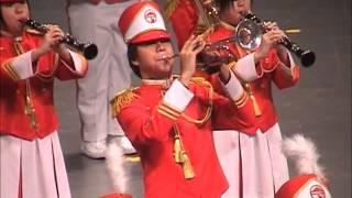 2001香港音樂事務處步操管樂團比賽 嶺南中學步操樂團