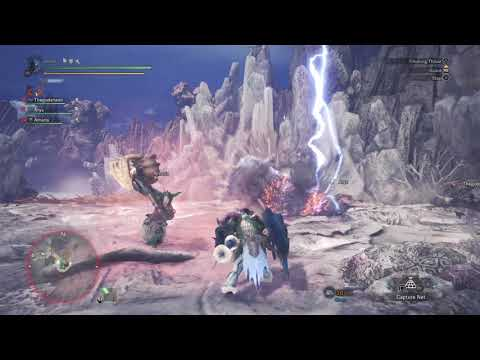 Finishing Off Kirin with a jumping lance thrust