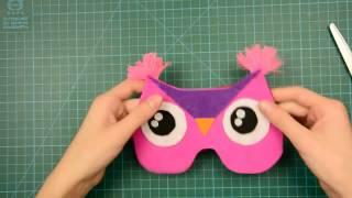 маска для сна сова своими руками