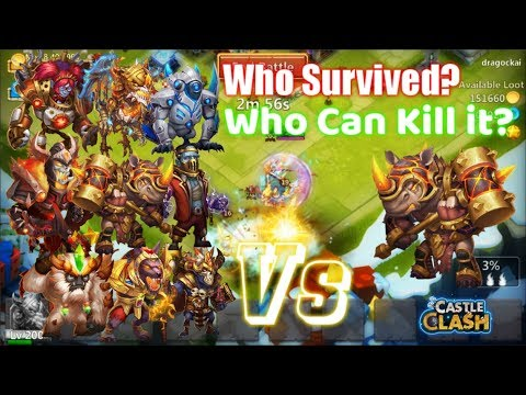 EPIC!Damage Rockno Vs 9Heroes Who Survived? Who Can Kill Him? - Castle Clash