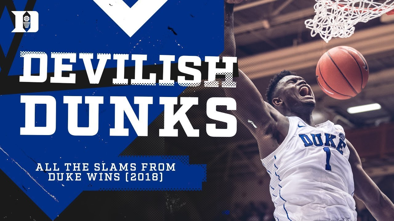 Duke Basketball: Devilish Dunks 2018 - YouTube