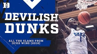 Duke Basketball: Devilish Dunks 2018