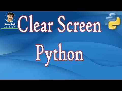 Clear Screen in Python | How to clear screen in Python | Python Tutorial thumbnail
