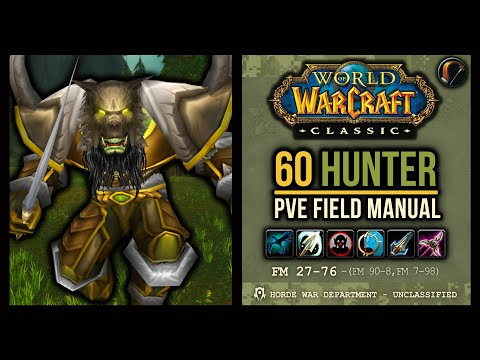 Classic Wow 60 Hunter Pve Field Manual Pets Rotation Talents Bis Gear Stat Weights Etc Youtube