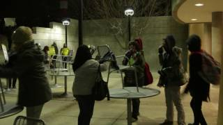 Protesters face off with deputies at UNM during Milo Yiannopoulos speech