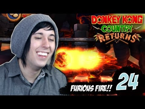 [24] Furious Fire - Donkey Kong Country Returns [Despwns Live Commentary w/Facecam]