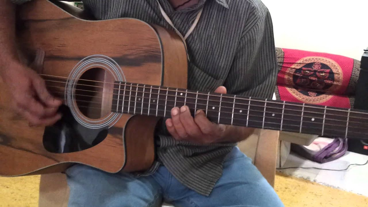 neele neele ambar par on guitar by ar giridhar youtube