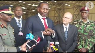 Nkaissery receives new police helicopter