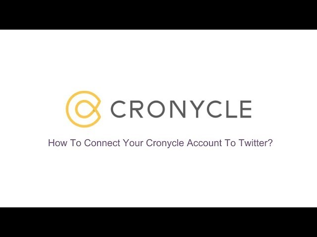 Connect Your Cronycle Account To Twitter