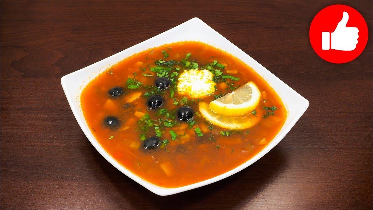 рецепт постного вкусного первого блюда солянки в мультиварке