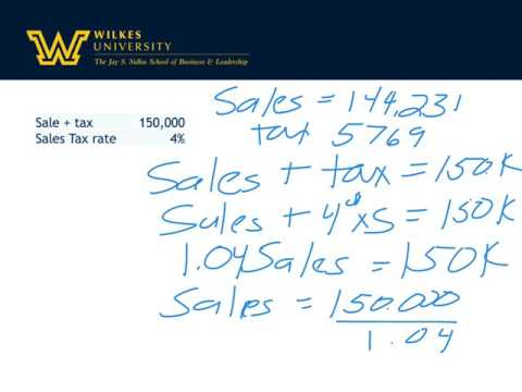 Sales tax and value added tax
