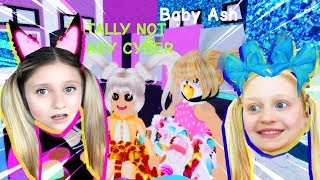 BABY ASH & BABY CYBER PRETEND TO BE HIGH SCHOOLERS! Royale High
