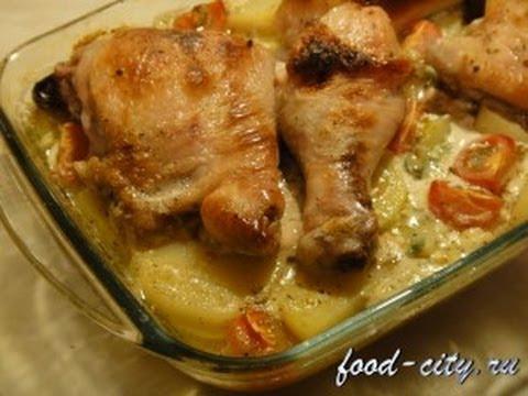 картошка с голенью запеченная в духовке