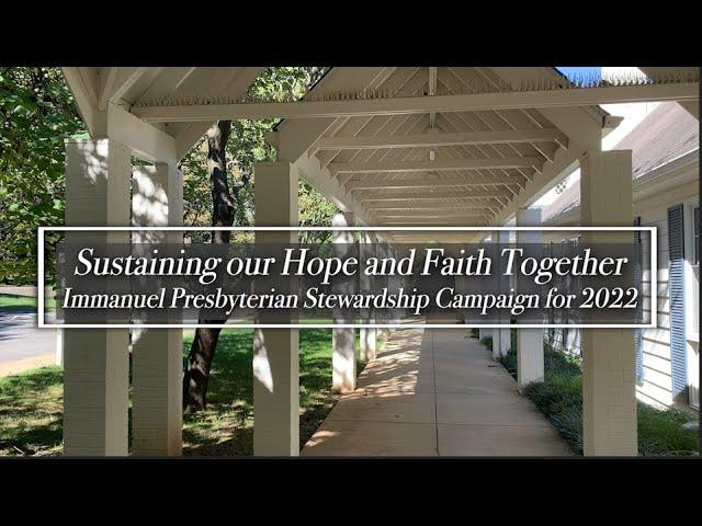 Sustaining Faith Together - Stewardship 2022