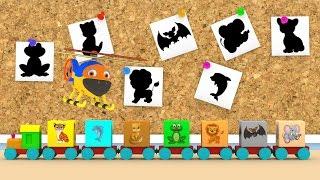 Уроки з Винтиком 3D - Тварини- Лев, тигр, слон, кажан, дельфін, кіт, жаба – Розвиваючі мультфільми