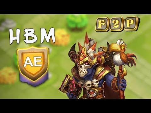 Castle Clash: HBM AA-AE Best Setup!!
