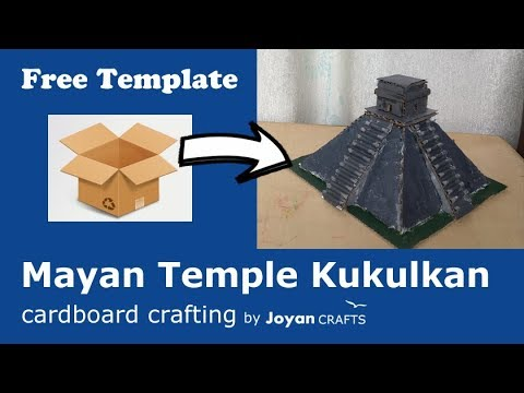 Build Mayan temple Kukulkan from cardboard