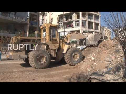 Syria: Rebuilding work underway in war-damaged Eastern Aleppo