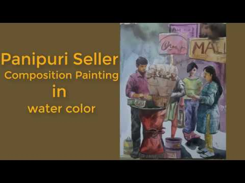 How To Paint Panipuri Composition Painting