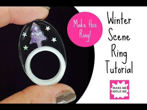 How to make a Resin Ring | Use a Silicone Double Ring Mold | Scene Ring | Make Me Mold Me