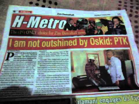 "ZimDancehall News ""I am not outshined by Oskido"" PTK in the H METRO newspaper"