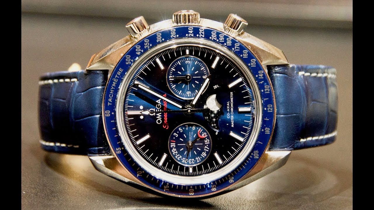 Review Omega Speedmaster Co Axial Moonphase Youtube
