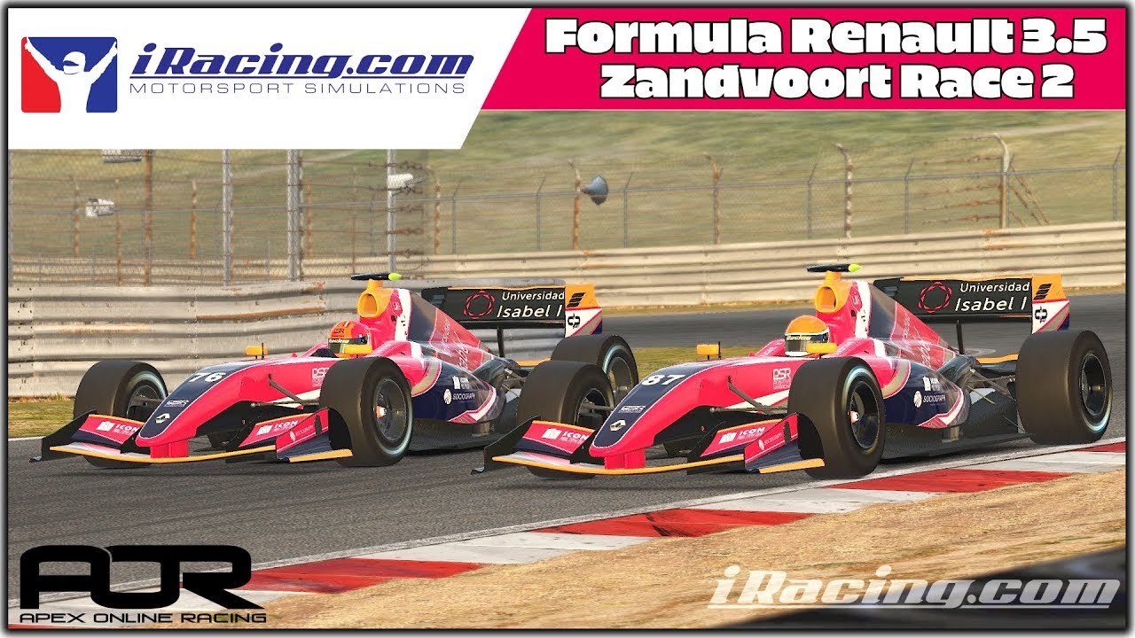 AOR Race 2. Max result for the team. Zandvoort. Formula Renault 3.5. iRacing.