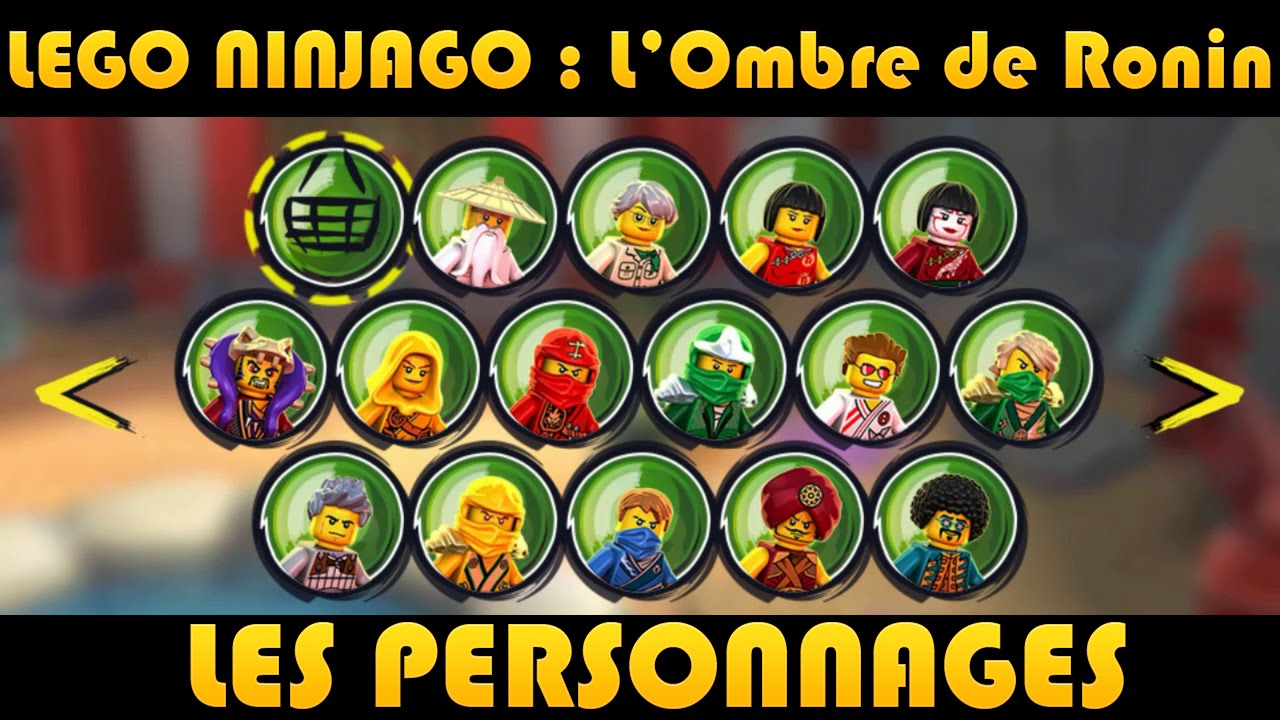 lego ninjago all characters youtube