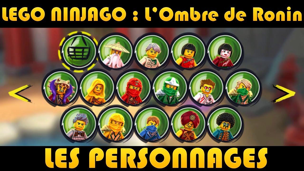 Lego ninjago les personnages characters youtube - Lego ninjago 4 ...