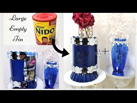 HOW TO USE EMPTY LARGE TINS FOR STORAGE| ADDING FLOWER TATTOOS| STORAGE IDEAS 2019