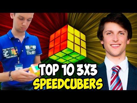 Top 10 3x3 Speedcubers 2017