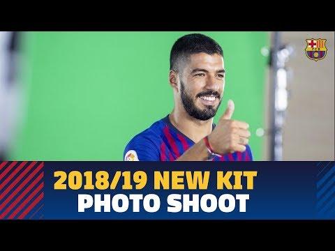 Barça's 2018/19 new kit photo shoot