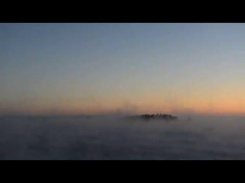 Arctic sea smoke time-lapse