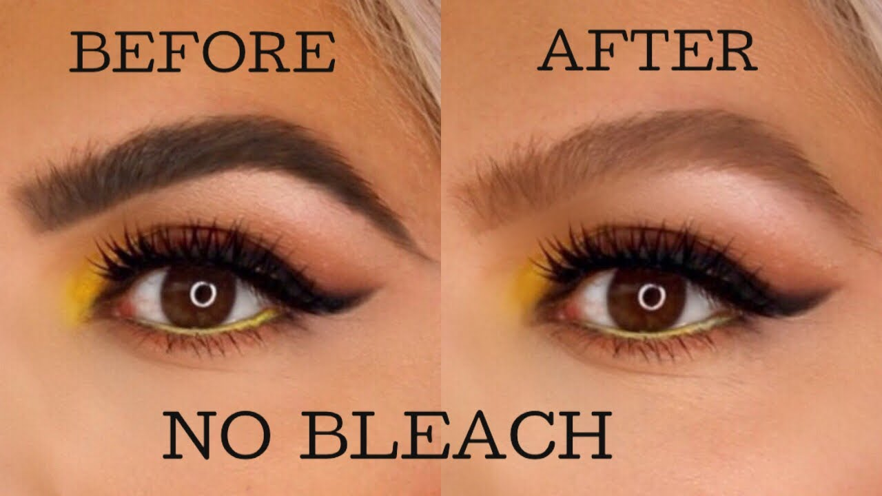 How To Lighten Your Eyebrows At Home No Bleach Youtube