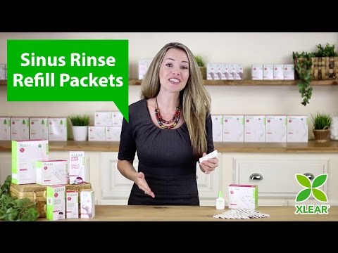 Xlear Natural Sinus Rinse Refill Packets with Xylitol - YouTube