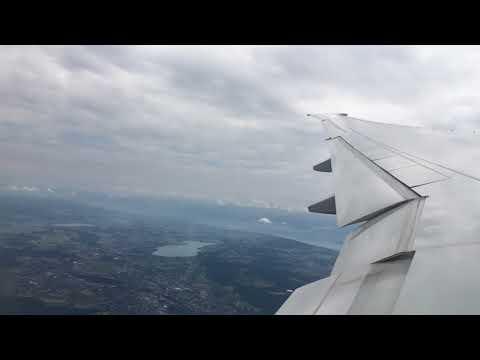 Swiss Global Air Lines Flight 22 B77W ZRH✈SFO Taxi+Takeoff+Landing Jun 27 2017
