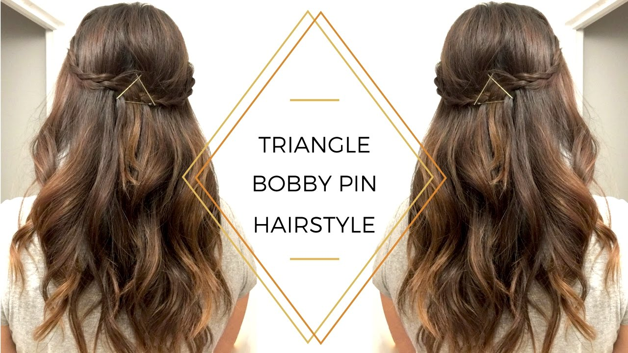 HOW-TO | Triangle Bobby Pin Hairstyle - YouTube