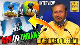 FINALLY INDIAN GOVERNMENT SPEAKS ON PUBG BAN | PRAKASH JAVADKAR | WILL PUBG COME BACK?