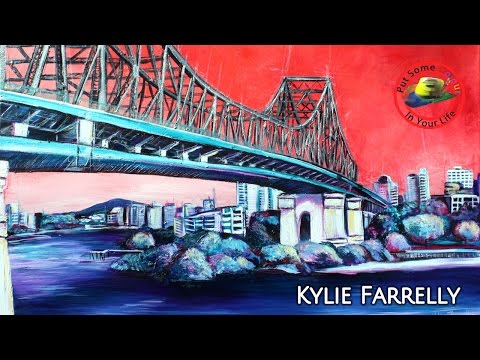 Fine art Tips with a Free Acrylic Art Lessons with Kylie Farrelly on Colour In Your Life