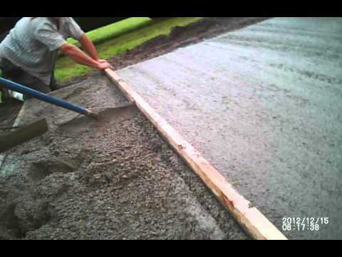 Concrete Slab Pour Start To Finish - Youtube