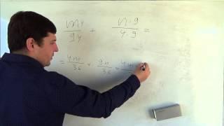 алгебра 8 класс. 22 сентября. Сложение и вычитание алгебраических дробей с разными знаменателями #1