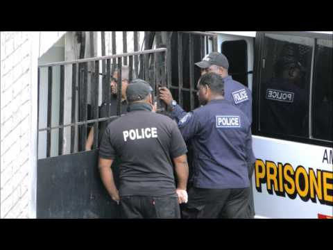 TWINS RUN FROM JAIL, San Fernando. Jan. 11, 2015 - Trinidad & Tobago