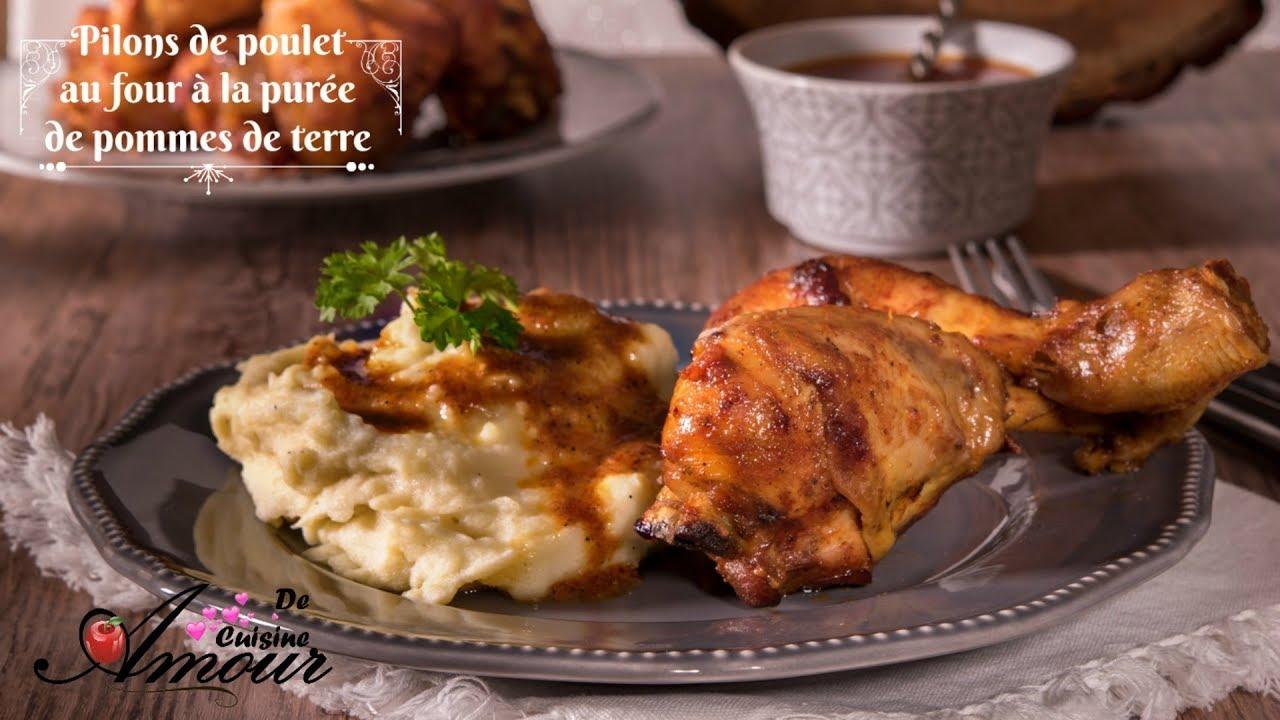 repas complet pilons de poulet au four et pur e de pommes de terre par soulef amour de cuisine. Black Bedroom Furniture Sets. Home Design Ideas