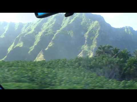 Driving in Oahu, view of Waianae Mountains