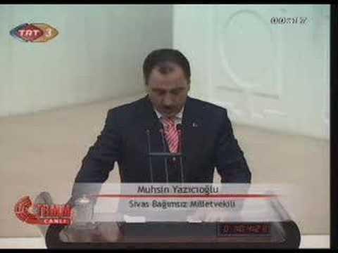 TBMM Yemin töreni 23 dönem  Muhsin Yazıcıoğlu 2007