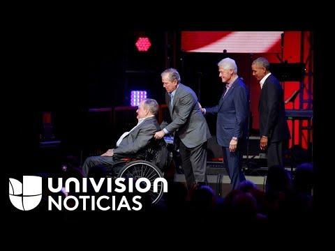 Cinco ex presidentes se unen en un concierto a beneficio de los damnificados