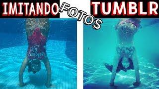 IMITANDO FOTOS TUMBLR NA PISCINA 5 - Muita Diversão